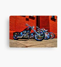 """Harleys at Heaven's Door"" Canvas Print"