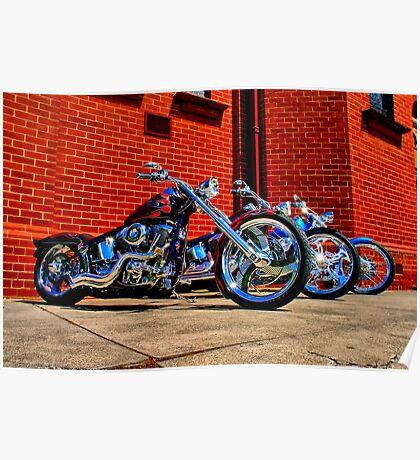 """""""Harleys at Heaven's Door"""" Poster"""
