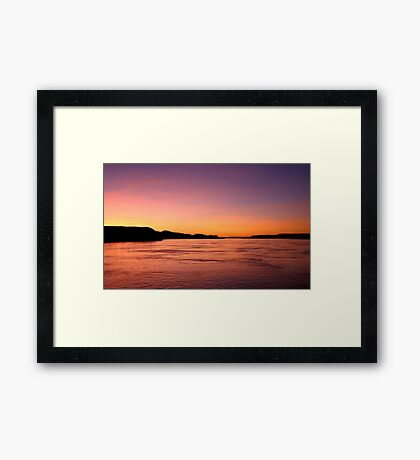 Flaming Australian Sunset Framed Print