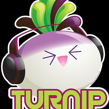 Cute Electronic Dance Music Turnip Pun by kimchikawaii