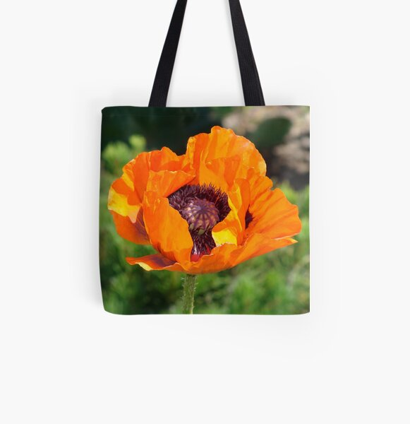 Poppy All Over Print Tote Bag