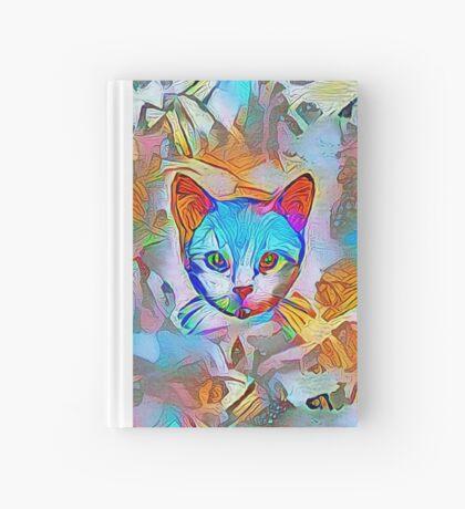 White cat Hardcover Journal
