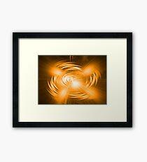 Orange Abstract Framed Print