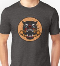 WW2 Panzerzerstörer Division Panther Patch Distressed Gear Slim Fit T-Shirt