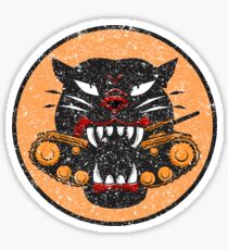WW2 Tank Destroyer Division Panther Patch Distressed Gear Sticker