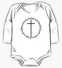 MATTHEW 11:28 circular One Piece - Long Sleeve