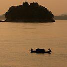Brahmaputra River At Sunset by Gina Ruttle  (Whalegeek)