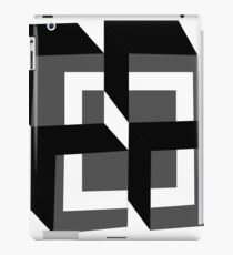 Black Blocks iPad Case/Skin