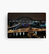 Spanning the Tyne Canvas Print