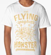 The Flying Spaghetti Monster (dark) Long T-Shirt
