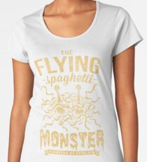 The Flying Spaghetti Monster (dark) Women's Premium T-Shirt