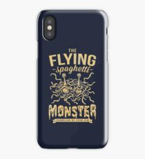 The Flying Spaghetti Monster (dark) iPhone Case
