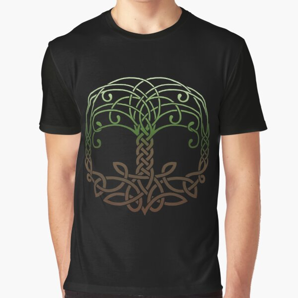 Yggdrasil Knotwork Graphic T-Shirt