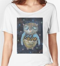 Blue Wing Owl Women's Relaxed Fit T-Shirt