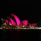 Sydney Opera House - pink by Steven Guy