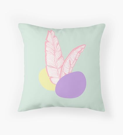 Candy Leaves #redbubble #spring Throw Pillow