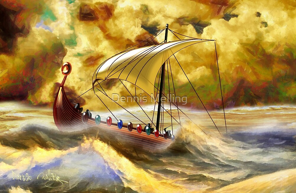 The Vikings are Coming, 8th century CE by Dennis Melling