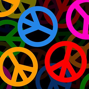Peace Symbols Stacked by surreal77