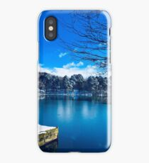 Ampleforth Lake, Yorkshire in Winter  iPhone Case/Skin
