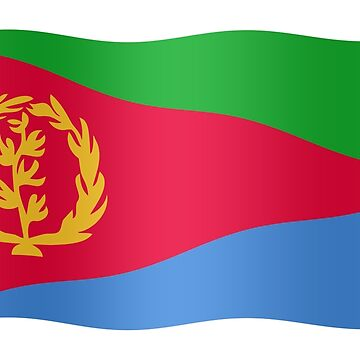 Eritrean flag waving by stuwdamdorp