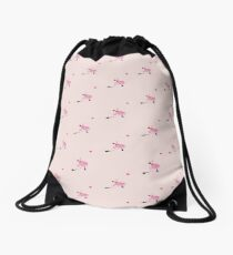 Flamingo's yo-yo Drawstring Bag