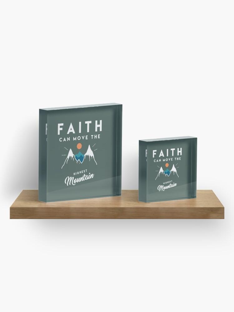 Vista alternativa de Bloque acrílico Cita de fe