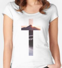 Christian Cross Fitted Scoop T-Shirt