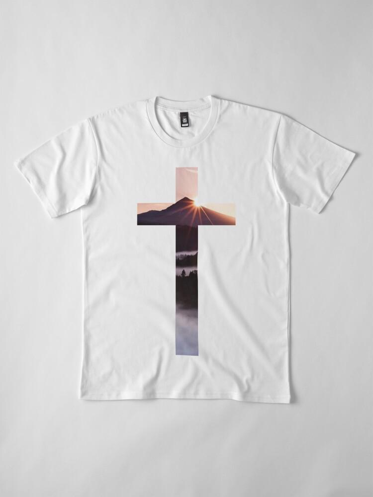 Alternative Ansicht von Christliches Kreuz Premium T-Shirt