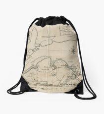 Vintage Map of Martha's Vineyard (1782) Drawstring Bag
