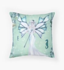 Sea Foam Fairy Throw Pillow