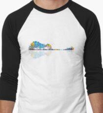 Nature Guitar - Colorful Watercolor  Men's Baseball ¾ T-Shirt