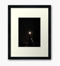 Embankment Lights Framed Print