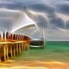 Glowing Pier 2 by Teresa Zieba