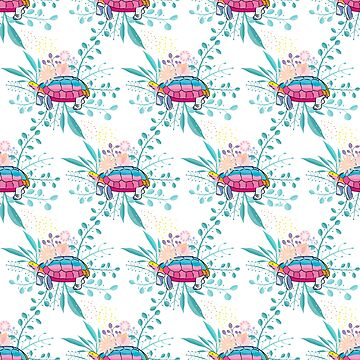 Happy Spring Tortoise Pattern by famenxt