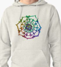 ddc4004877d5c3 Abstract festive colorful mandala ethnic tribal pattern Pullover Hoodie