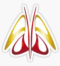 Butterfly - Gold and Red Sticker