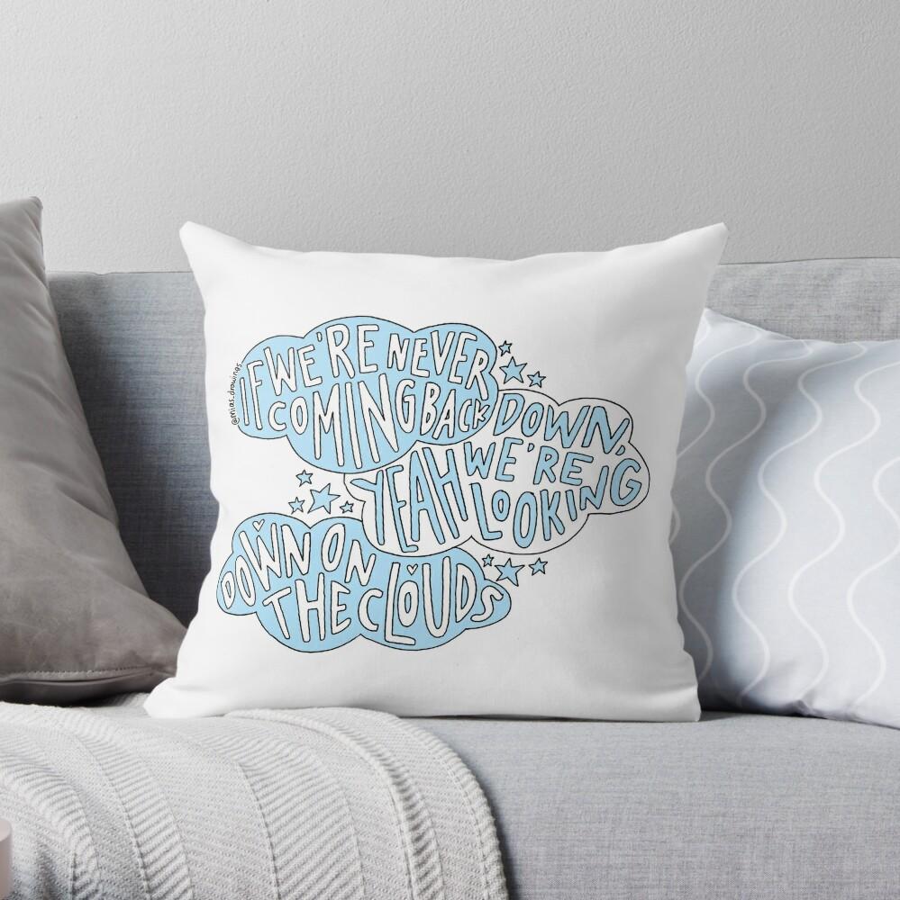 Clouds- One Direction lyric art | Throw Pillow
