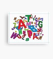 Alphabet gum Canvas Print
