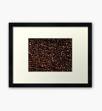 Rich Roasted Coffee Beans Textured Pattern Framed Print