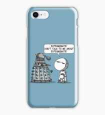 Marvin meets Who? iPhone Case/Skin