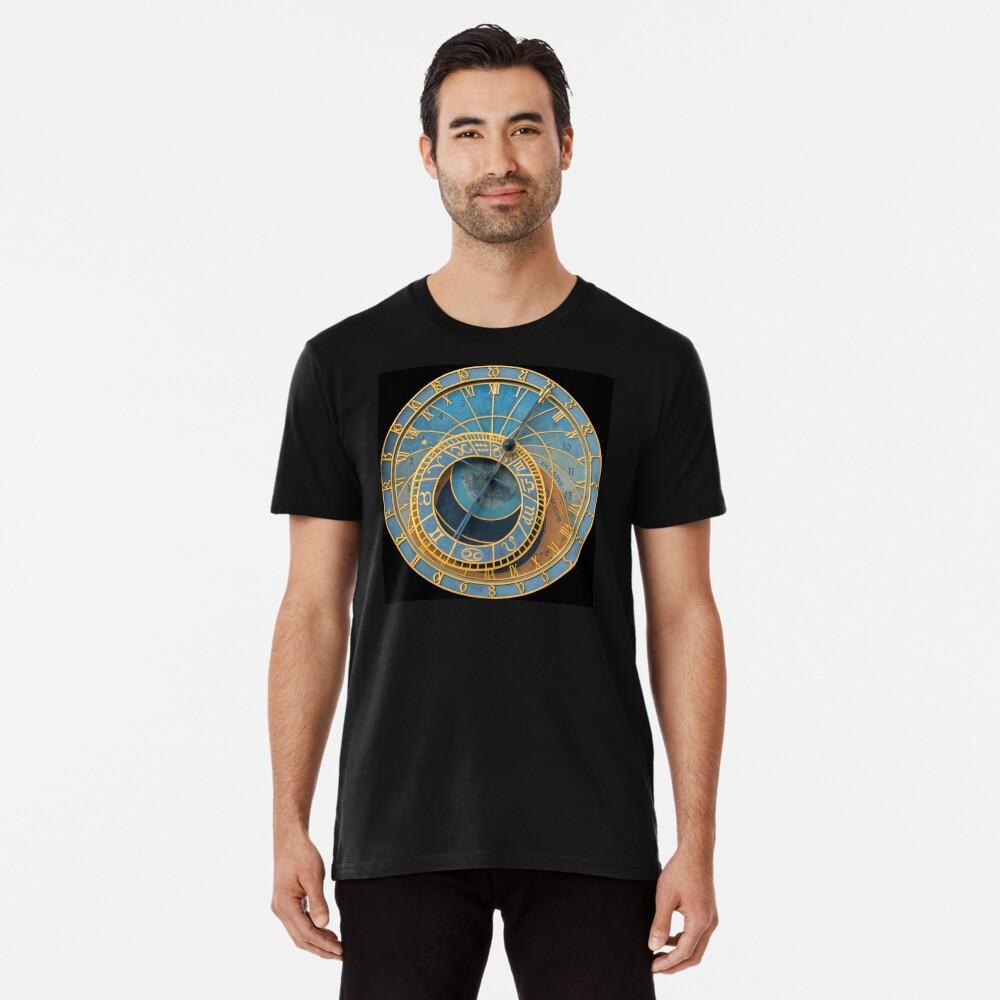 Stunning! Medievil Astronomical Clock or Prague Orloj in Prague / Praha Czech Republic - Professional Photo Premium T-Shirt