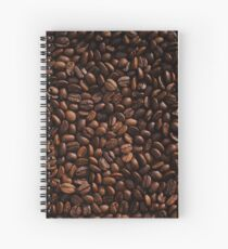 Rich Roasted Coffee Beans Textured Pattern Spiral Notebook