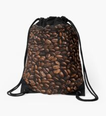 Rich Roasted Coffee Beans Textured Pattern Drawstring Bag