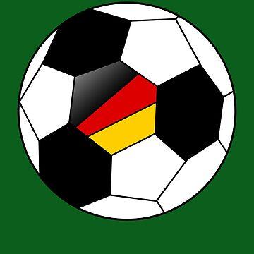German Soccer Ball - German Football - German Flag by Natalia-Art