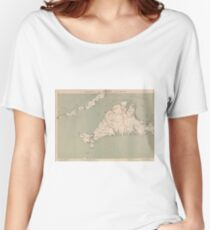 Vintage Map of Martha's Vineyard (1891) Women's Relaxed Fit T-Shirt