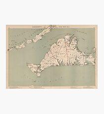 Vintage Map of Martha's Vineyard (1891) Photographic Print