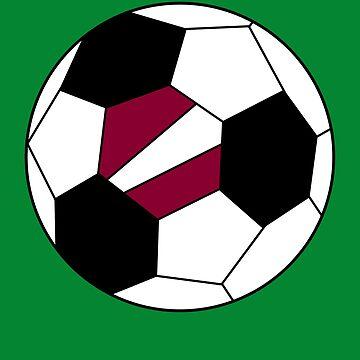 Latvian Soccer Ball - Latvian Football - Latvian Flag by Natalia-Art