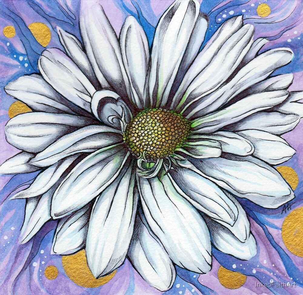 Daisy with gold accents april birth flower by inkedfaithart daisy with gold accents april birth flower by inkedfaithart izmirmasajfo