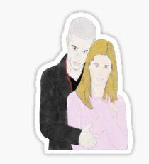 Buffy + Spike Sticker