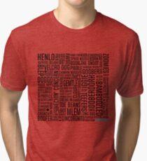 Dog Speak - Dark Print Tri-blend T-Shirt